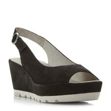 Gabor Blaize cleated sole peep toe wedges