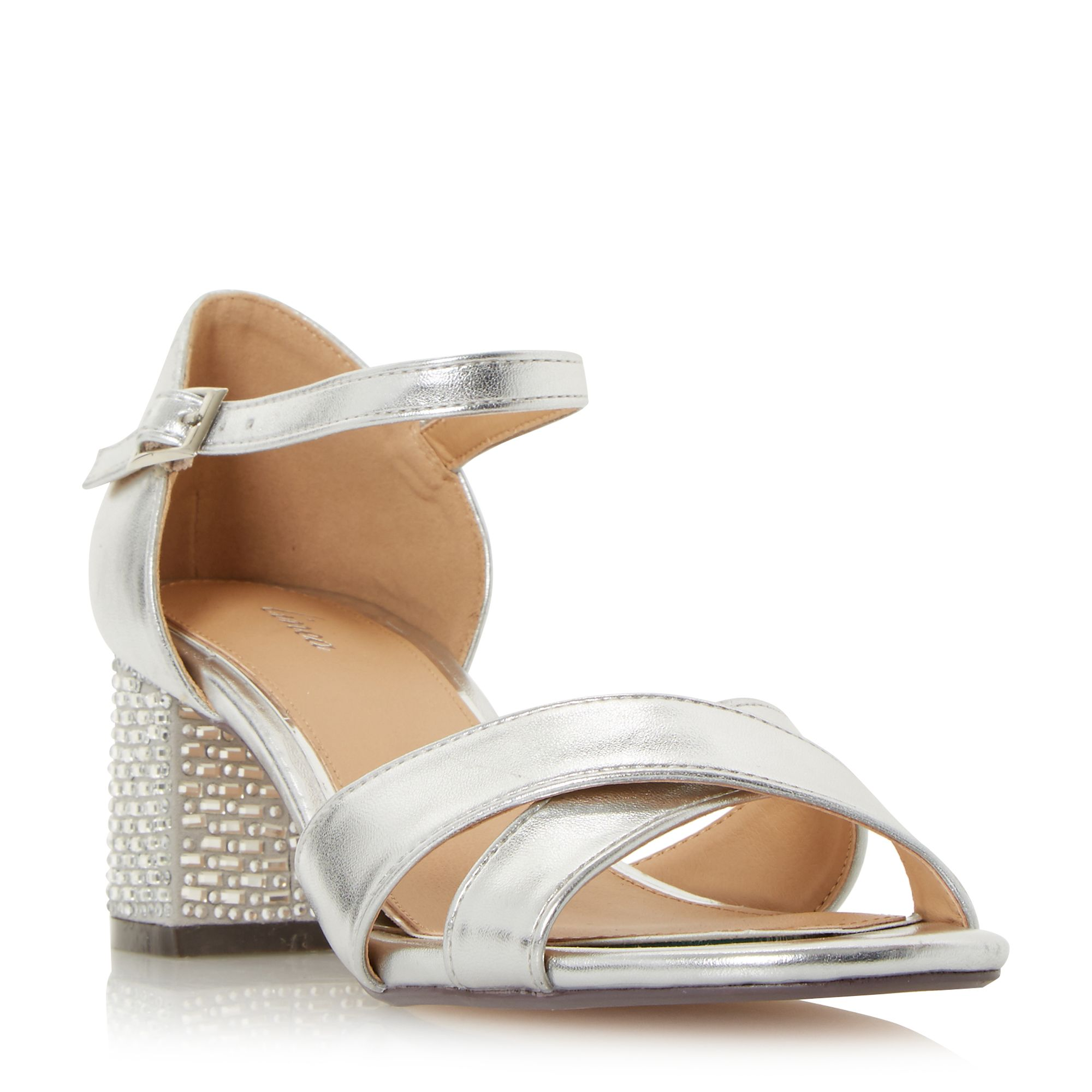 Silver Block Heel Shoes :: House of Fraser