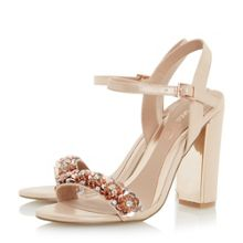 Head Over Heels Madia floral embellished two part sandals