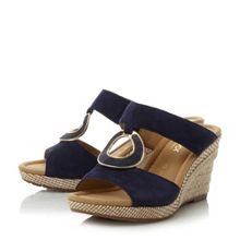 Gabor Sizzle embellished wedge sandals