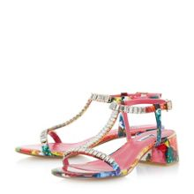 Dune Malie jewelled t-bar block sandals