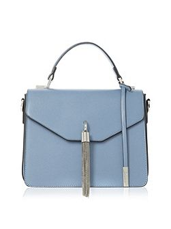 Delina metal tassel flap over handbag