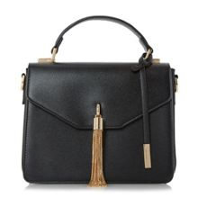 Dune Delina metal tassel flap over handbag