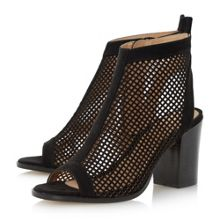 Head Over Heels Jinx Perforated Peep Toe Sandals