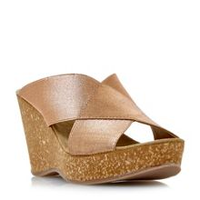 Dune Kendle cross vamp wedge sandals