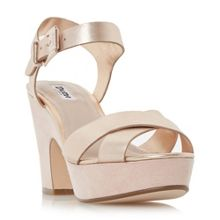Dune Iyla cross vamp block heel sandals