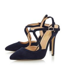 Head Over Heels Caira assymetric strappy pointed courts