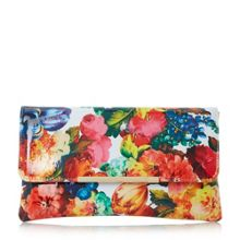 Dune Bower  floral print clutch