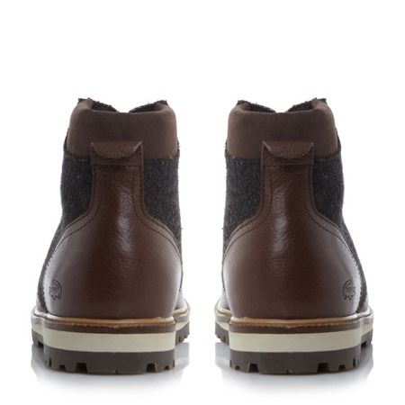 Lacoste Montbard boot apron detail lace up boots