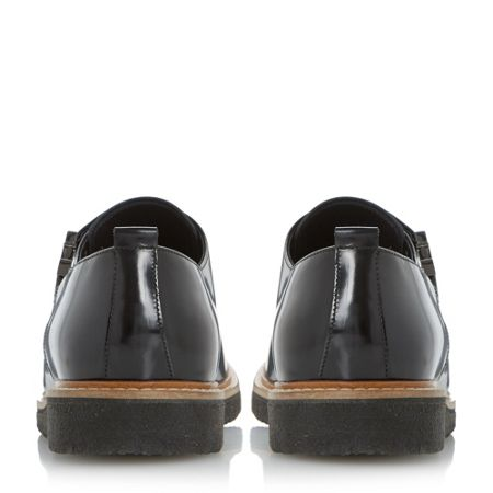 Dune Black Baggins hi-shine double monk shoes