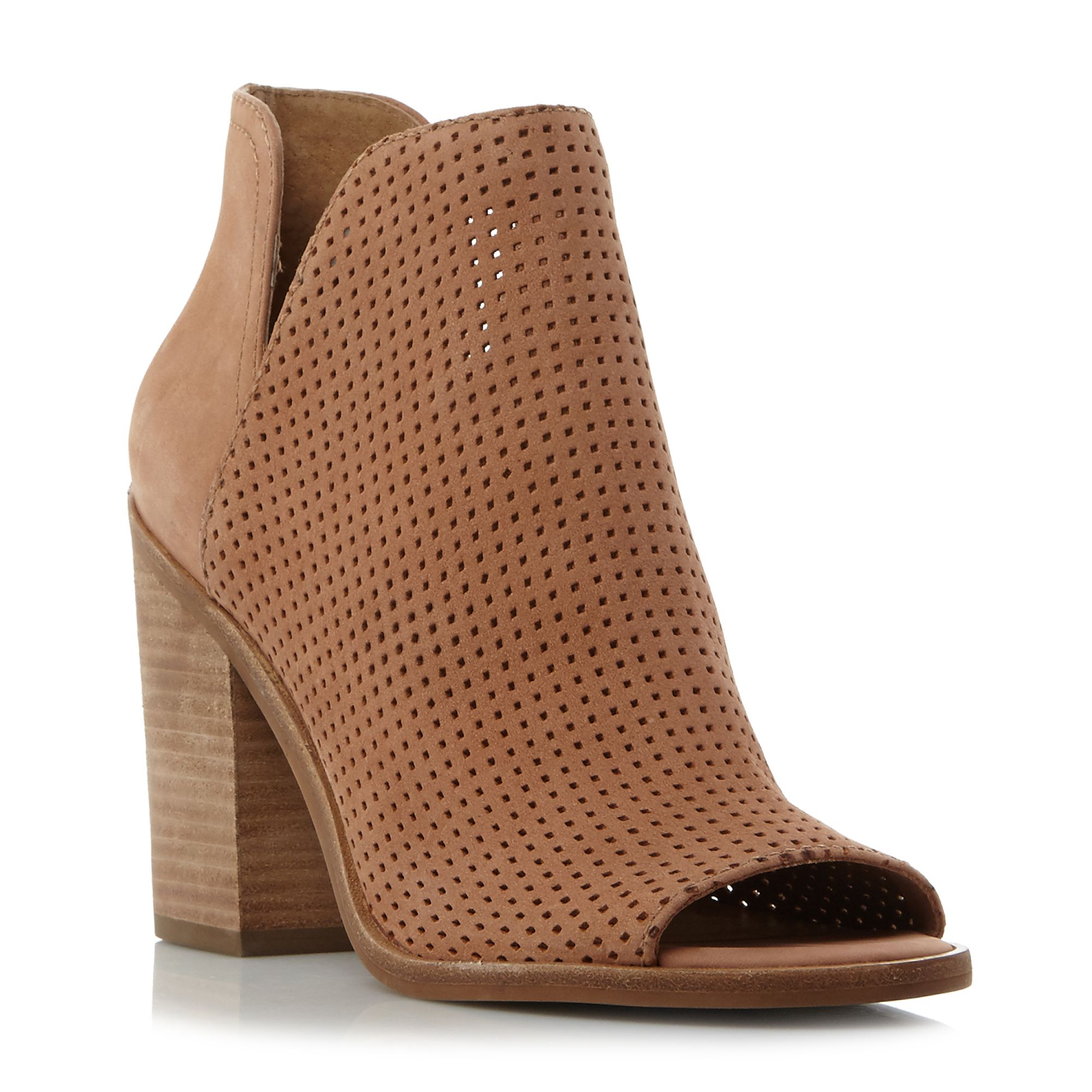 Steve Madden Tala sm perforated open toe ankle boots Brown