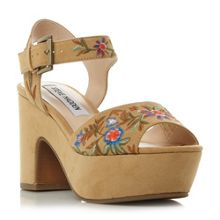 Steve Madden Bonnie sm embroidered platform sandals