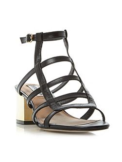Ilari-g sm gold heel strappy sandals