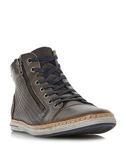 Supernova embossed high top trainer