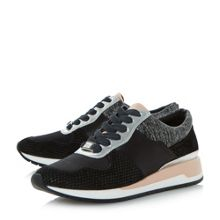 Dune Elinor multi material trainers