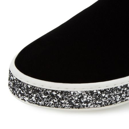 Dune Exchange glitter sole slip on shoes