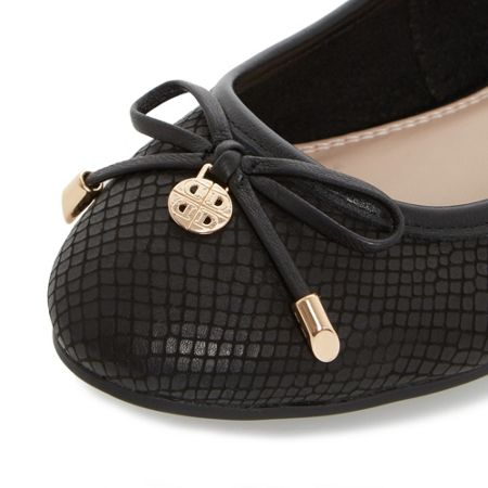 Dune Hype square toe ballerina shoes