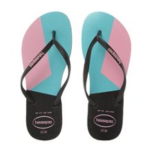 Havaianas 4136845 colour block slim flip flops