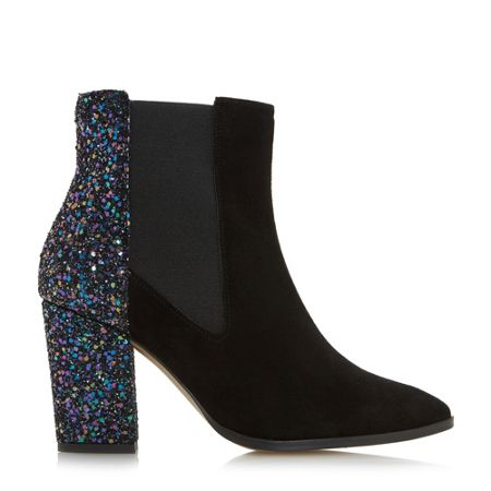 Dune Order point block ankle boots