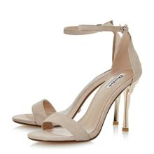 Dune Midsummer rose heel sandals