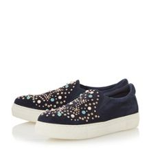 Dune Elha Embellished Slip On Trainers