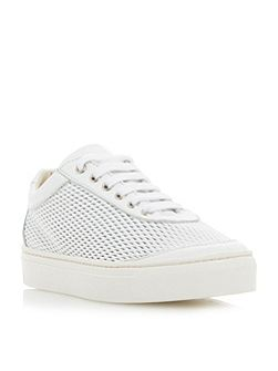 Ealing perforated lace up trainers