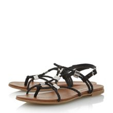Head Over Heels Layley Elastic Plait Strap Sandals