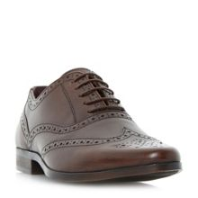 Howick Power pointed oxford brogue shoes