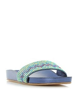 Laizer Chevron Embellished Sandals