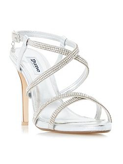 Mansionn strappy jewelled high heel sandal