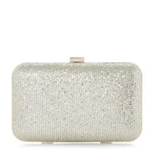 Dune Bsarah metallic box clutch bag