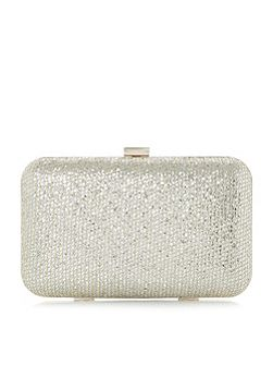 Bsarah metallic box clutch bag