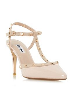 Catelyn Studded T-Bar Court Shoes