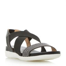 Dune Lyal Elasticated Cross Strap Sporty Sandal