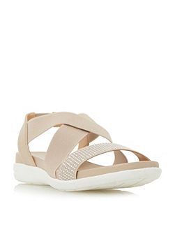 Lyal Elasticated Cross Strap Sporty Sandal