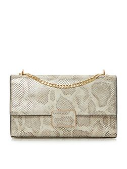 Driya rectangular trim flap over shoulder bag