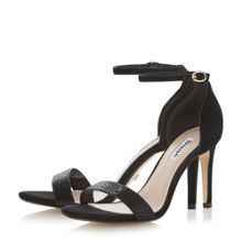 Dune Mortimer 2 part stiletto sandals