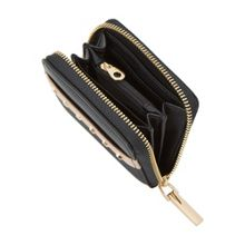 Dune Kookie studded small zip around purse