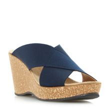 Linea Kady elasticated cross over strap wedge sandal