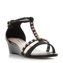 Dune Khala stud wedge sandals