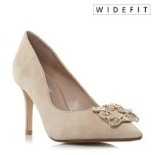 Dune Betti wide fit trim court shoes