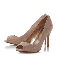 Dune Dinaa wide fit peep toe court shoes