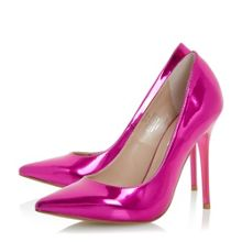 Dune Blaze metallic pointed court shoes