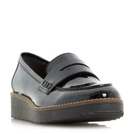 Dune Graphic penny flatform loafers