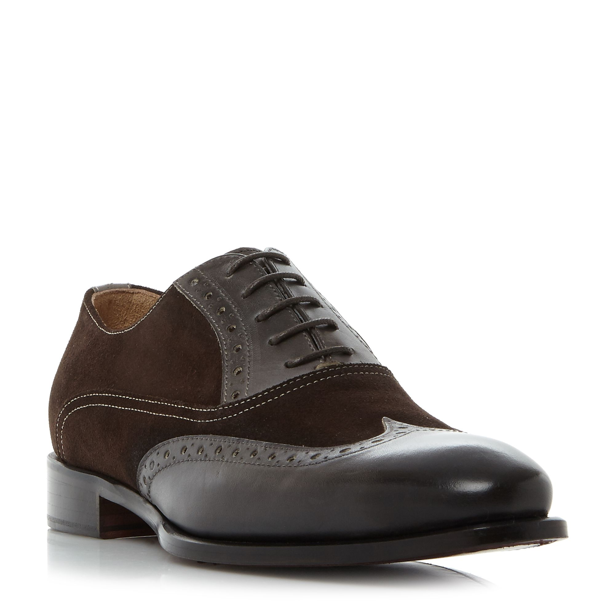 Kenneth Cole Coat armour wingtip oxford brogue Grey
