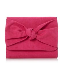 Head Over Heels Bernette knot detail clutch bag