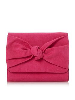 Bernette knot detail clutch bag