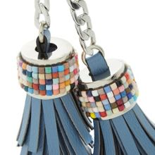 Dune Shellie beaded tassel key ring