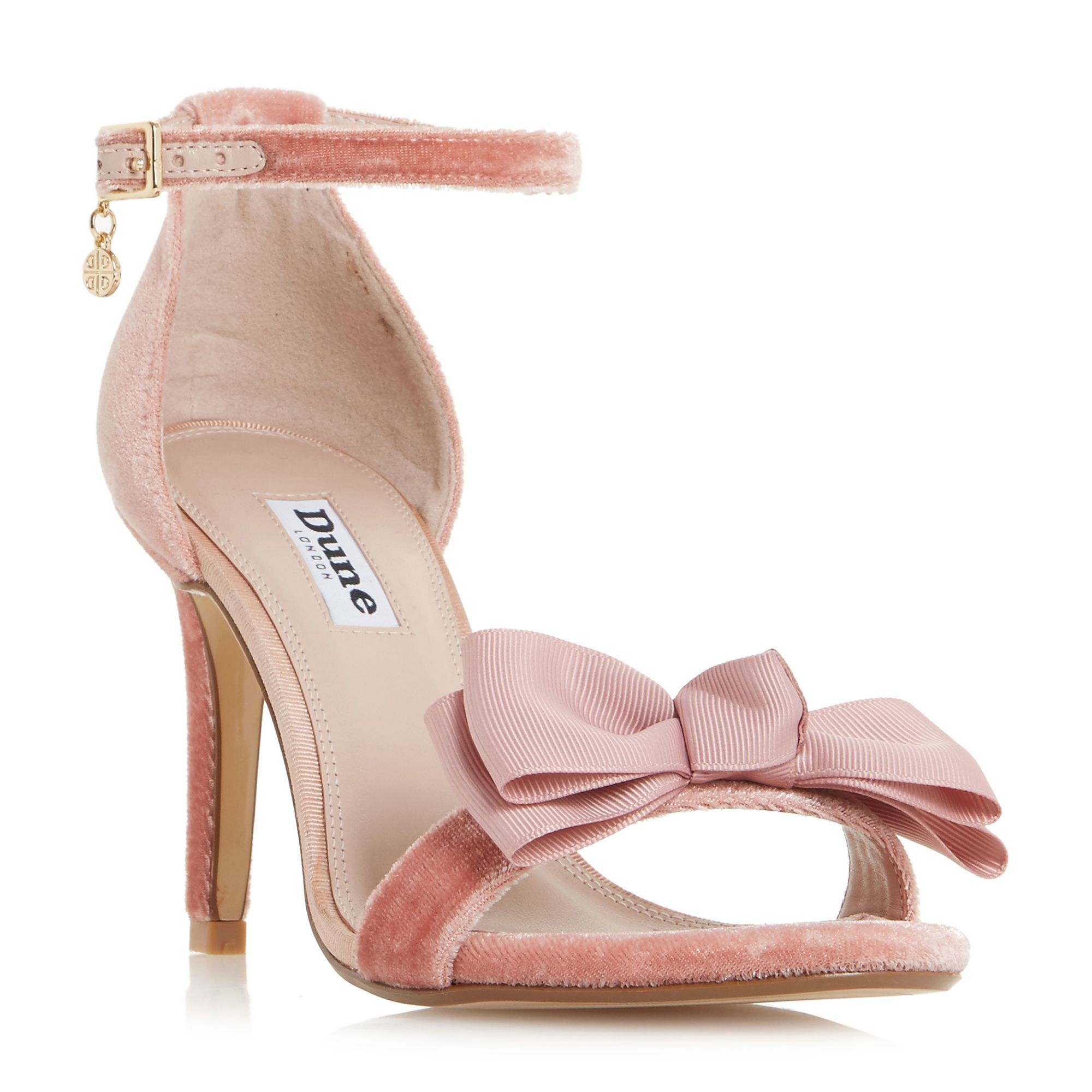 Click to view product details and reviews for Dune Moella Bow Stiletto Sandals Blush.