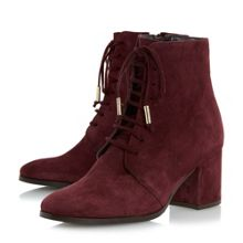 Dune Olita lace up block heel ankle boots